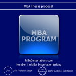 MBA Thesis proposal