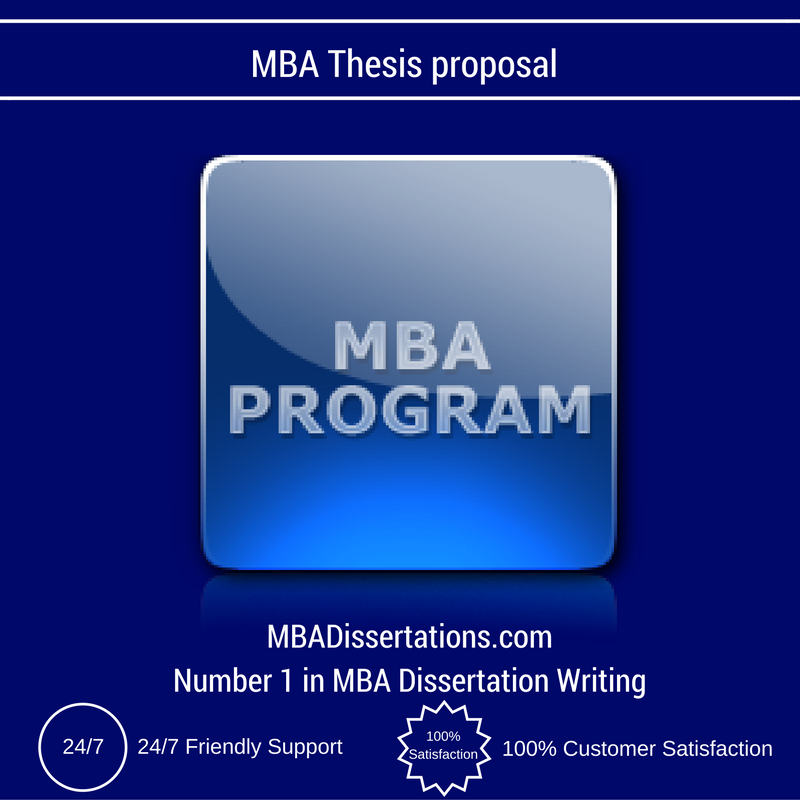 Mba thesis proposal sample pdf