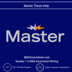 Master Thesis Help