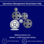 Operations Management Dissertation Help